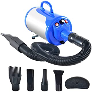 SHELANDY 3.2HP Stepless Adjustable Speed Pet Hair Force...
