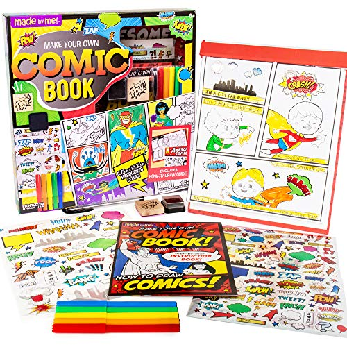 Made By Me Make Your Own Comic Book Storytelling Kit for...