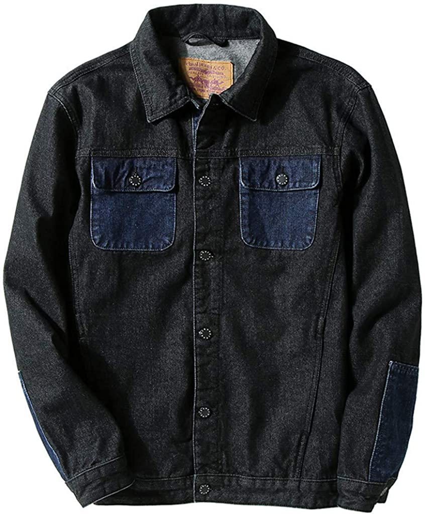 Men's Jean Jacket Fit Safety and trust Retro Trucker Distressed San Francisco Mall Turn