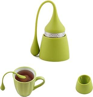 iNeibo Infusor de té, Filtro Té de Acero Inoxidable y Silicona Alimenticio, Bola Infusiones con Recipiente Colador (Conjunto de 1)