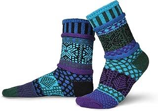 Solmate Socks - Mismatched Crew Socks; Made in USA; Blue Spruce Medium