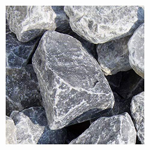 zierkiesundsplitt Ice Blue Gabionensteine Bruchsteine 500kg Big Bag 40-60mm und 60-100mm (40-60mm)