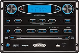 Jensen AWM965 AM/FM|CD|DVD|MP3/USB Wallmount Stereo with DVD Player, Front USB Supports MP3, WMA, JPEG Formats, Remote Control Included, 12 Volt (Renewed)
