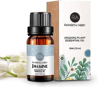 RAINBOW ABBY Jasmine Essential Oil 100% Pure Orangic Aromatherapy Plant Essential Oils Set for Diffuser - 10ML