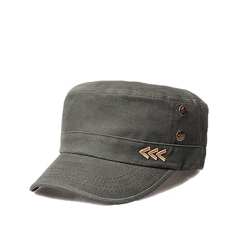 Nameblue Homme Femme Militaire Casquette de Baseball Casquette Réglable en  Coton Chapeau Sportif Hat Flat ee664403497