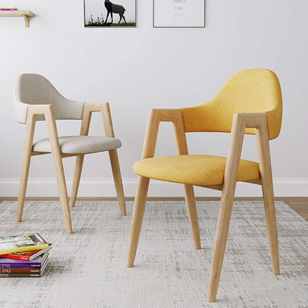 XXT-Chaise de Salle, Chaise de Bureau Simple, créative Dossier, Chaise Loisirs, Maison Adulte Chaise de Salle Durable (Color : Blue) Light Khaki