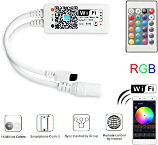 MagicLight WiFi RGB LED Controller for Light Strips, Android iOS Free App, Comes with 24 Keys Remote, Compatible with Alexa, Google Home, Widget, IFTTT and Siri Shortcut