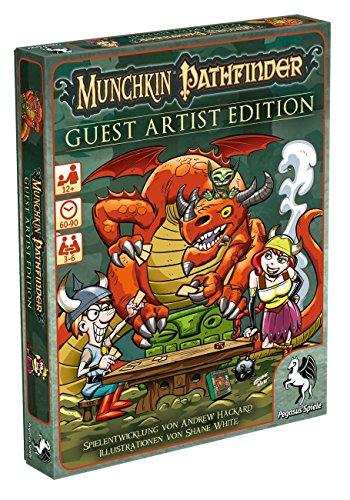 Pegasus Spiele 17243G - Munchkin Pathfinder Guest Artist Edition, Shane White-Version
