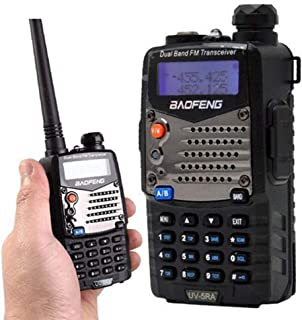 ZUZU Long Range Walkie Talkie Uhf VHF Pofung UV-5RA Upgraded for CB Radio Station Radio Scanner Police Two-Way Radio About 10 Km