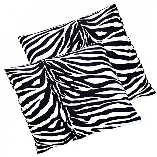 2er Pack Zebra Renforcé Baumwolle Kissenbezug Kissenhülle Bezug Kissen Hülle