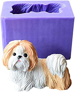 Runloo Cute Shih Tzu Dog Silicone Mold For a Puppy Chocolate Moulds Dog Soap Molds