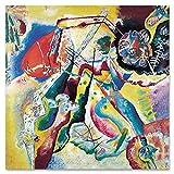 Giallobus - Pinturas - Vassily Kandinsky - Pintura con Mancha roja - Vidrio acrílico plexi - 70x70 - Listo para Colgar - Cuadros Modernos para el hogar