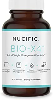 Nucific® Bio-X4 4-in-1 Weight Management Probiotic Supplement, 90 Count.