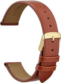 WOCCI Cinturini per Orologi Eleganti, Vera Pelle, Fibbia in Acciaio Inossidabile, 10mm 12mm 14mm 16mm 18mm 20mm