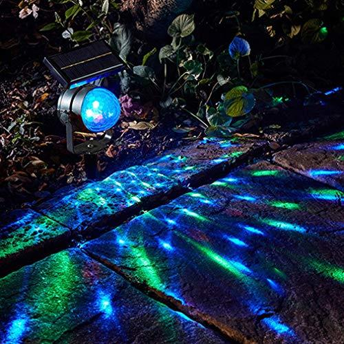 solar gartenlicht,LED-Projektionsleuchte, Garten-Rasen-Lampe, Glühbirne, Solarleuchten, Solarleuchten, Außen-Fee, Solarleuchten, Garten, Solarstrom, buntes Drehen