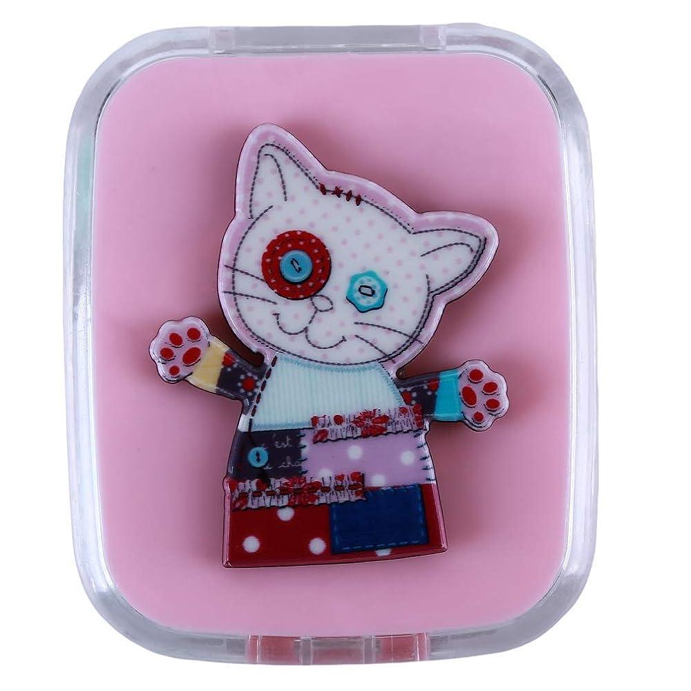 チェリー安息事前に1st market プレミアム コンタクトレンズケース コンタクトレンズボックス レンズケースセット コンタクト ケアパレット スティック ミラーケース 持ち運びに便利 携帯 動物 猫 可愛い 便利