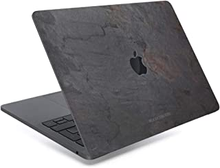 Woodcessories - Skin Compatible with MacBook Made of Real Slate Stone, EcoSkin (MacBook Air 2018/13 Pro Touchbar (from 2016), Volcano Black)