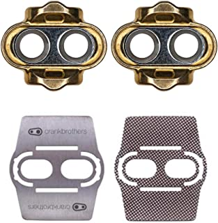 CRANKBROTHERs Crank Brothers Zero Float Cleats and Bike Shoe Shields Pair: for Eggbeater, Candy, Smarty, Mallet Pedals, Etc.