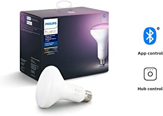 Philips Hue White and Color Ambiance BR30 LED Smart Bulb, Bluetooth & Zigbee compatible (Hue Hub Optional), Works with Alexa & Google Assistant – A Certified for Humans Device