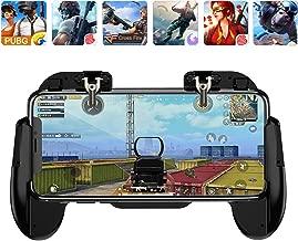 Mobile Phone PUBG Game Controller L1R1 Shoot and Aim Trigger Joystick Ergonomic Gamepad for PUBG Mobile/Knives Out,Phone Gaming Controller for 4.7''- 7.0'' Android & iOS (H6 Black)