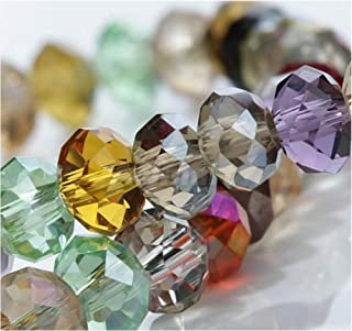 Hybeads 100Per Assorted Top AAA Quality 5040 Assorted Crystal, Mixed, Size 6.0