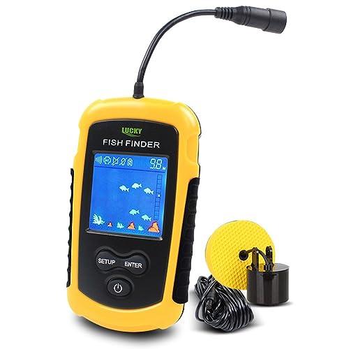LUCKY Buscadores de Pescado Alarma 100M / 328ft Sensor de Sonar portátil de Pesca con Cable