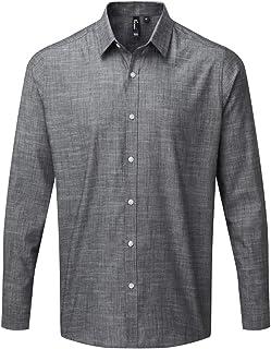 Premier Mens Long Sleeve Chambray Shirt