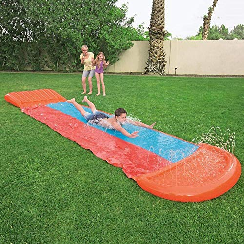 ZRQ Water Slide For Kids Inflatable Slides For Adults Children Backyard Garden Racing Spray Summer Toy For Outdoors for garden (Color : Double slides)