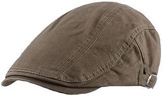 Ukerdo Cotton Flat Berets Hats for Men Cabbie Adjustable Beanie Cap Cowboy Drivers Accessories