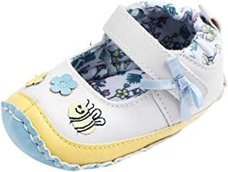 Toddler Baby Girls 3-18 Months Flower Cartoon First Walkers Soft Sole Casual Shoes