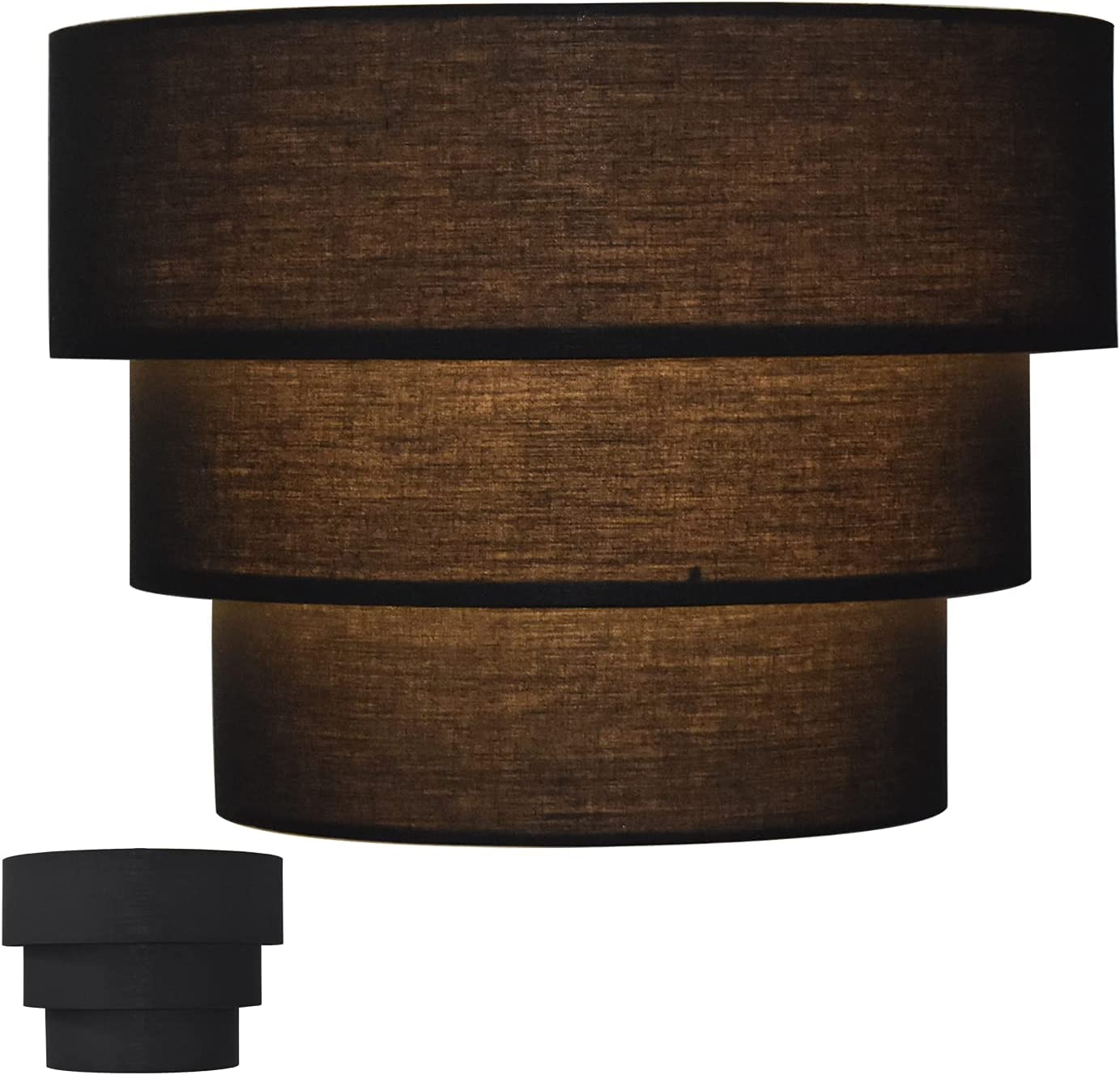lowest price 3-Tier Lamp Shade Dark National products Shades for Lamps Replacement Floor