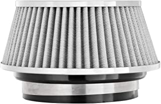 Spectre Performance 8168 Universal Clamp-On Air Filter: Round Tapered; 3 in/3.5 in/4 in (102 mm/89 mm/76 mm) Flange ID; 2.625 in (67 mm) Height; 6 in (152 mm) Base; 4.75 in (121 mm) Top