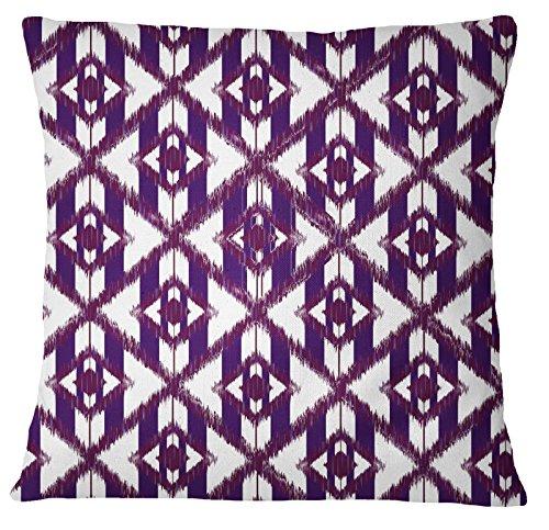 s4sassy azul Home decorativo sofá FUNDA DE COJÍN Ikat Impreso manta funda de almohada–elegir tamaño, lona, azul, 16 x 16 Inches