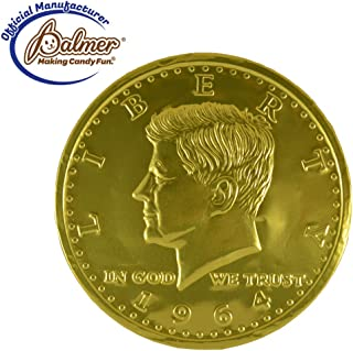 Premium Huge Milk Chocolate Mega Coin Wrapped with Gold Foil, 16oz