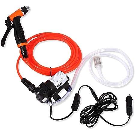 Autowaschpumpe 12 V Hochdruck Elektrische Autowäscher Reinigungsmaschine Wasserpumpe Trigger Spritzpistole Waschen Kit Baumarkt