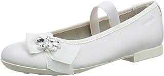 حذاء باليه مسطح للفتيات من Geox Plie 54 بحزام مطاطي