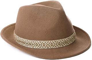 Jeff & Aimy Unisex Crushable Dress Fedora 100% Pure Wool Felt Gangster Homburg Hat