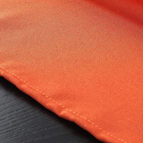 Yruog_tablecloth Tischdecke Tuch AlleArten von Baumwolle und leinen einfarbigwasserdichttischdecke tischdecke Hochzeit Dekoration orange 140 * 200 cm