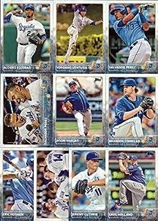 2015 Topps (Series 1 & 2) Kansas City Royals Baseball Card Team Set – 22 Card Set includes Salvador Perez, Alex Gordon, Mike Moustakas, Eric Hosmer, Lorenzo Cain, Yordano Ventura, Wade Davis, and more!