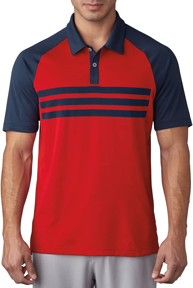 adidas Golf 2017 Climacool 3-Stripes Competition Polo Mens Performance Golf Polo Shirt