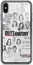 TFLHAI Compatible con iPhone 6/6s Funda Ultra-Thin TPU Suave Protector Pure Clear Apple Cajas del Teléfono Cover Grey'S Anatomy Quote You'Re My Person Yang and Grey