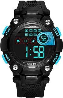 Niño Relojes Digitales,Chico Impermeable Luminoso Corriendo Movimiento Watch Correa con Hebilla Pasador