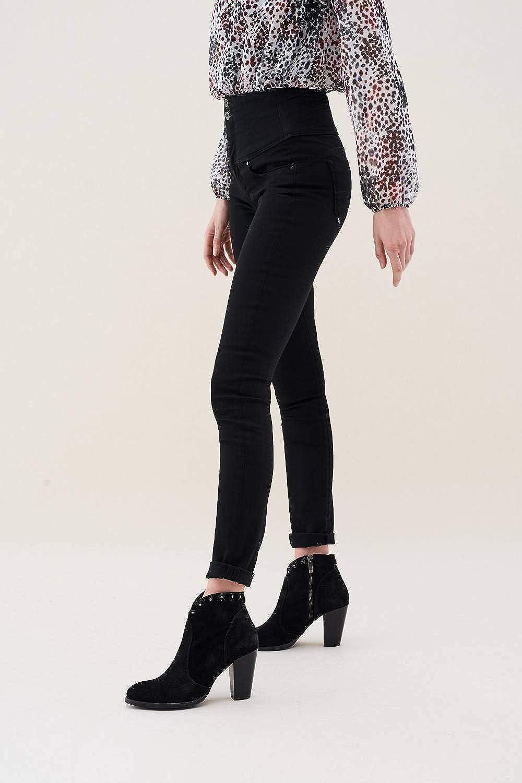 Salsa Pantalons Amincissant Diva en Noir avec Jambe Slim Noir