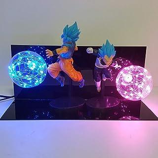 Dragon Ball Super Lámpara Goku Vegeta Kamehameha Galick PISTOLA Lamparas Dragon Ball Z Goku Super Saiyan DBZ Led Luces de la noche Lámpara de escritorio