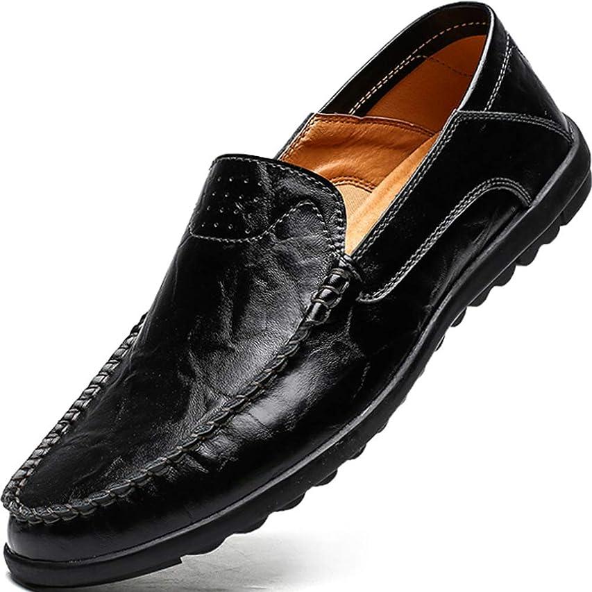 ベスト隠す言い聞かせるローファー スリッポン メンズ ドライビングシューズ 本革 ビジネスシューズ スリップオン 軽量 カジュアル デッキシューズ 紳士靴 2種履き方 大きなサイズ 職場用 モカシン 靴