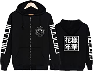 babyHealthy Kpop BTS 3D Digital Printed Love Yourself Jimin Jung Kook Suga V Hoodie Pullover Sweatshirt