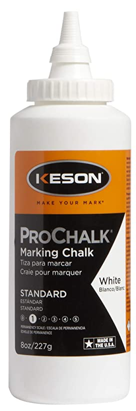 Keson 8W ProChalk Marking Chalk - Level 1, White, 8-Ounce