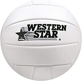 Western Star Official Size Outdoor and Indoor Beach Volleyball Ball Ultra Soft-Touch with Pump