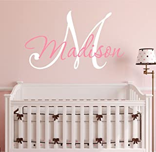 monogram initial wall decal