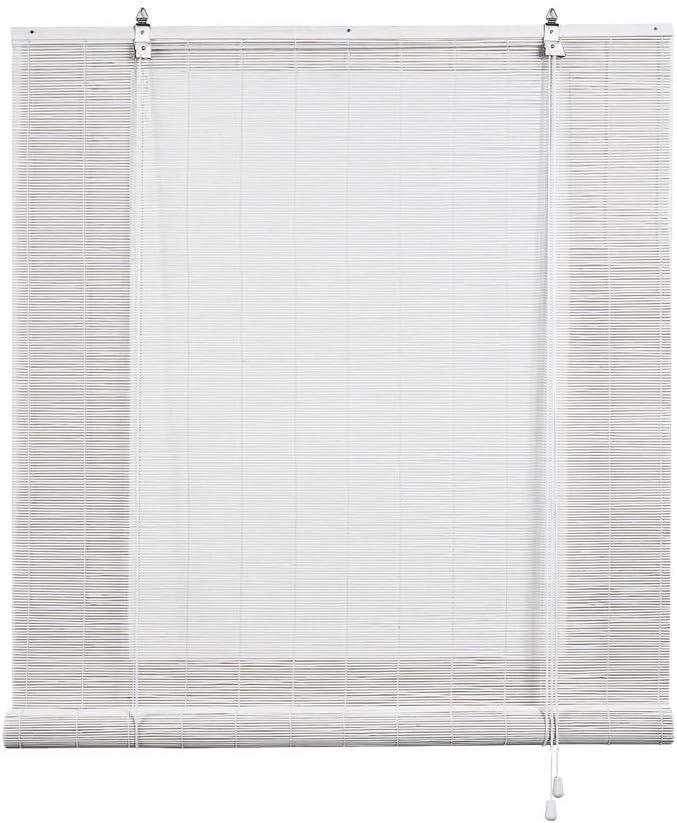 Estores Basic, persianas de Bambu, Blanco, 150x170cm, estores para Ventana